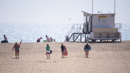 Holidaymakers and families enjoying Gorleston beach. Picture: DENISE BRADLEY