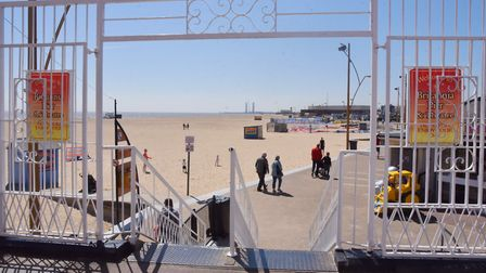 Great Yarmouth beach from the pier. Byline: Sonya Duncan Copyright: Archant 2019