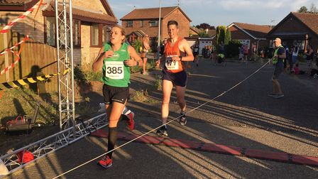 Heidi Steele, of Colchester Harriers, finishes third lady at tonight's Great Bentley Friday Five, Pi