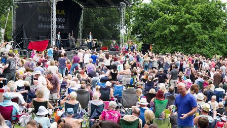 Large crowds are always drawn to all of the stages at Ipswich Music Day Picture: PETER CUTTS