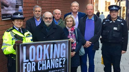 The launch of the 'Looking for Change' campaign to encourage people not to give cash to those on the