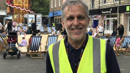 Mark Cordell, at the BID-organised Whitsun Fayre in Bury St Edmunds. Picture: NEIL DIDSBURY