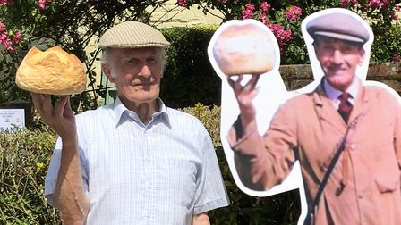 Paul Rutherford, posing next to his father, Henry, both bakers at Palmers Picture: KIERON PALMER