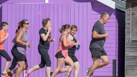 A colourful scene as 194 runners and walkers take part in Saturday's 138th Clacton Seafront parkrun.
