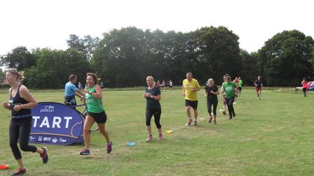Runners in action in Chantry Park during Saturday's 357th staging of the Ipswich parkrun. Picture: I