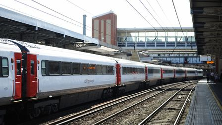 People on the track caused minor disruption to trains at Colchester.