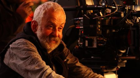 Mike Leigh on the set of Another Year. Picture: SIMON MEIN/THIN MAN FILMS