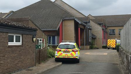The fire was inside Blackbourne View sheltered housing in Ixworth, accomodation for the over 55s Pic