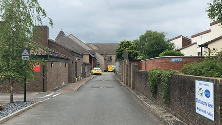 The view from Peddars Close in Ixworth, where a man had died following a fire at Blackbourne view sh