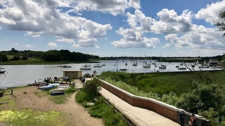 Little ones will love looking at the boats after exploring Kingston Park in Woodbridge Picture: NIGE