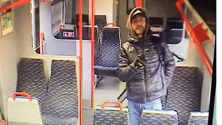 Do you recognise this man? Police want to speak to him following an assault on a train at Manningtre