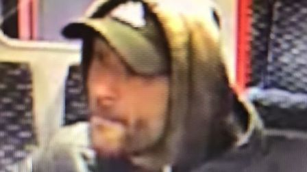 British Transport Police would like to speak to this man following an assault on a train at Manningt