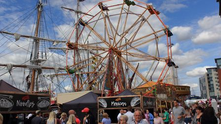 Tall ships and funfair on Ipswich Waterfront Picture: Tim Garret-Moore
