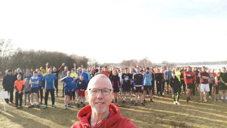 At Alton Water, Mr Edwards leads the Great Run Local, where runners of all abilities can take on a 2