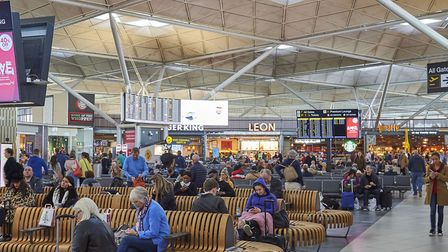 Departures at Stansted Airport, which has had a record breaking 2018 Picture: TIM WINTER