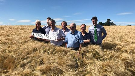 James Cartlidge met farmers to hear about their fears over a no-deal Brexit. Picture; Office of JAME