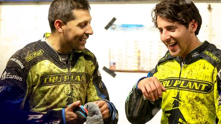 Former Witch Nico Covatti, left, won't be making a Foxhall return with Poole due to injury. Picture:
