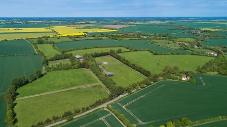 Abbey Farm in Linstead Parva, near Halesworth Picture: KEVIN SNELL/FLYIBOT