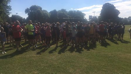 Runners congregate for the start of last weekend's 499th Greenwich parkrun. Picture: CARL MARSTON