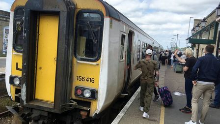 The Class 156 unit that took me from Ipswich to Lowestoft and on to Norwich. Picture: PAUL GEATER