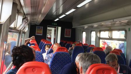 The train from Lowestoft to Norwich was noticeably busier than that from Ipswich to Lowestoft. Pictu