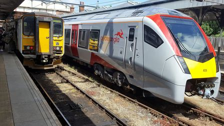 Was Greater Anglia trying to make a point by bringing one of their new Stadler bimodes beside our Cr
