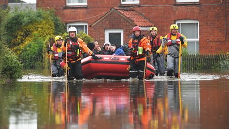 More than 580 homes in and around Wainfleet were evacuated last month Picture: Joe Giddens/PA Wire