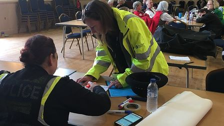 Emergency services gather during Wainfleet floods Pic: Environment Agency