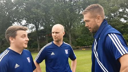 Luke Chambers interviewed Andy Warren and Stuart Watson after they played in an Ipswich Town staff g