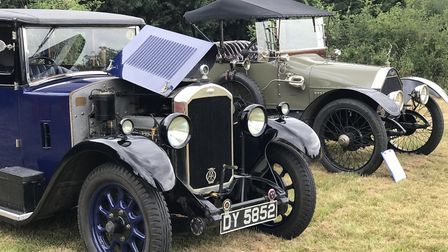 Vintage cars on display at the Thelnetham Windmill open day Picture: ELLA WILKINSON
