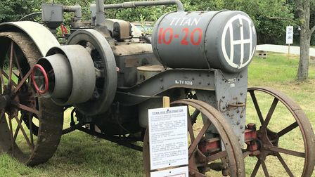 Antique farm machinery was among the attractions at the open day Picture: ELLA WILKINSON