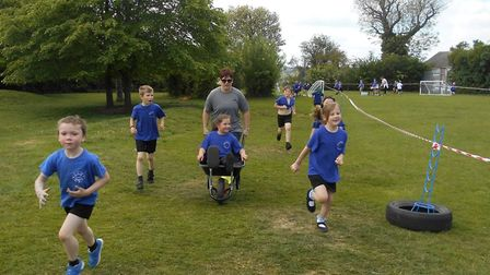 Children at Woodhall Primary School in Sudbury took part in a sponsored run/walk to raise money for