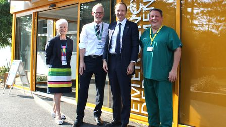 Left to right: West Suffolk NHS Foundation Trust (WSFT) chairman Sheila Childerhouse, WSFT chief exe