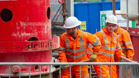 Anglian Water borehole drilling Picture:Matthew Power Photography