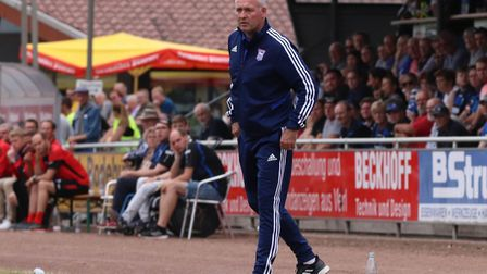 Ipswich Town manager Paul Lambert pictured during the game against Paderbon. Picture: ROSS HALLS