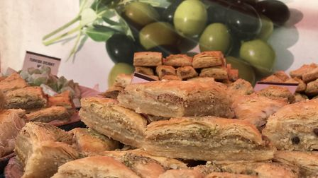 The baklava looked scrummy at the Stowmarket Food Festival Picture: Neil Didsbury