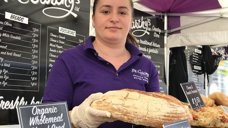 Imola Oala, 27, from Brentwood, Essex came to Suffolk for the Stowmarket Food Festival to offer deli