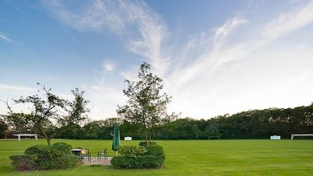The hotel has a FIFA standard training pitch. Picture: ROMANTIK HOTELS