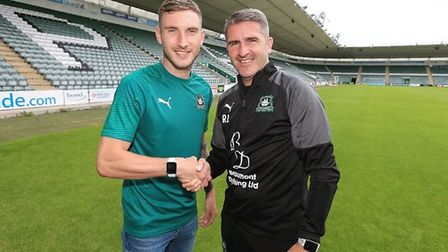 Danny Mayor has signed for Plymouth Argyle, managed by his former Bury boss Ryan Lowe. Picture: PLYM