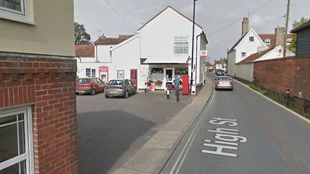 A man was injured after a row erupted in a car park close to the town's Post Office Picture: GOOGLEM