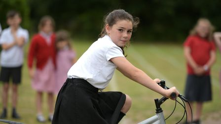 Children at Snape Primary School have taken part in a challenge to cycle the distance it takes a Syr