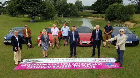 The launch of 10th Classic and Sports Cars by the Lake, held at Hall Farm, Fornham St Martin, near B