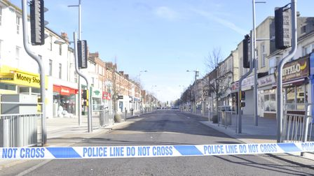 Police tape in Station Road, Clacton. Stock image. Picture: ARCHANT