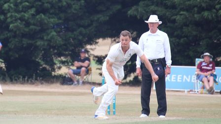 Bowler and skipper Tom Rash, who took four wickets in Mildenhall's defeat at Horsford. Picture: NICK