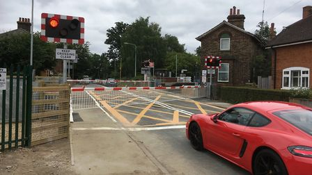 The B1077 at Westerfield has reopened after Network Rail completed rebuilding the rail crossing. Pic