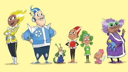 The Rocket family of the Summer Reading Challenge 2019, who love visiting their local library on the