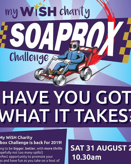 This year's soapbox race will take place on August 31 Picture: MY WISH CHARITY