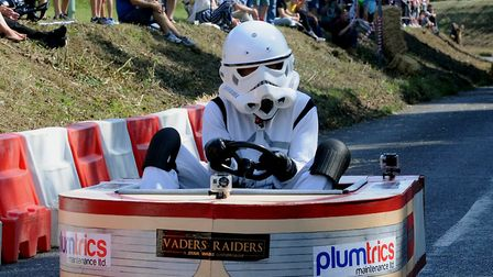 Vaders Raiders soapbox crawls to the finish line in 2018 Picture: ANDY ABBOTT