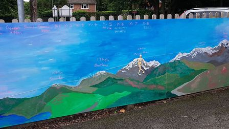 The mural at the school Picture: RACHEL EDGE