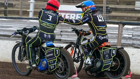 Chris Harris and Krystian Pieszczek will look for more points in Manchester. Picture: Steve Waller